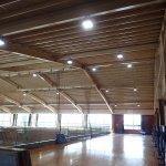 倉敷市立北中学校屋内運動場照明設備改修工事